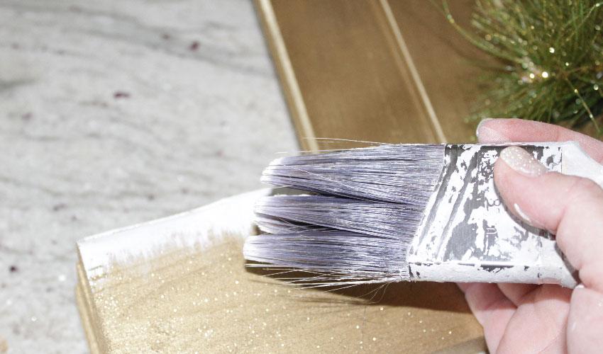 white paint 3D effect