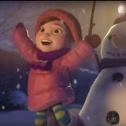 Мультфильм. Лили и снеговик.