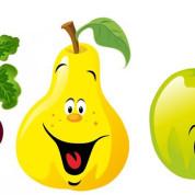 Стишки-Раскраски фрукты и овощи для самых маленьких