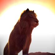 Мультик-Лев у пошуках води